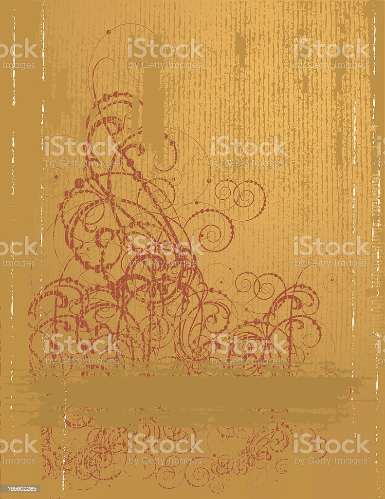 Weathered Antique Page royalty-free stock vector art