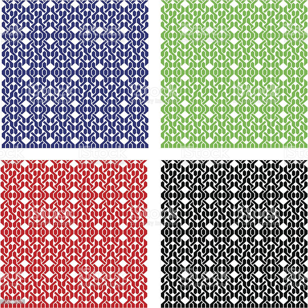 Weaving pattern seamless. Black and white royalty-free stock vector art