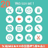Web 1 icons | Flat emerald collection