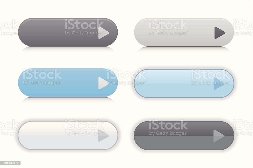 Web 2.0 Buttons royalty-free stock vector art