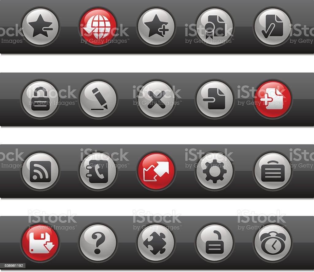 Web 2.0 Icons // Button Bars Series vector art illustration