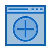 web add Colour Line Vector icon