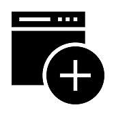 web add Glyphs Vector Icon