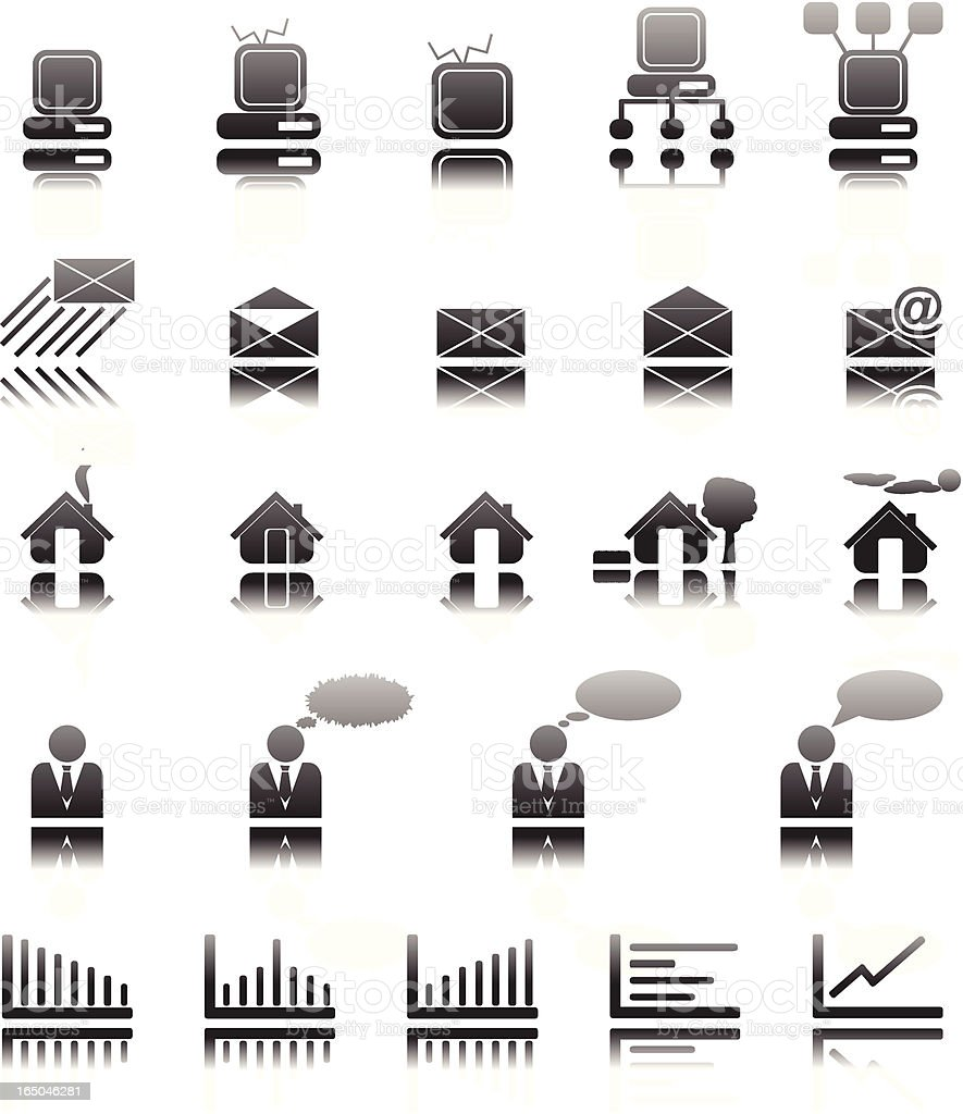 web and business icons royalty-free stock vector art