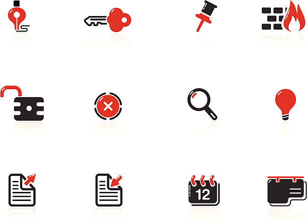 web and internet icons | nero series - byteandpixel stock illustrations