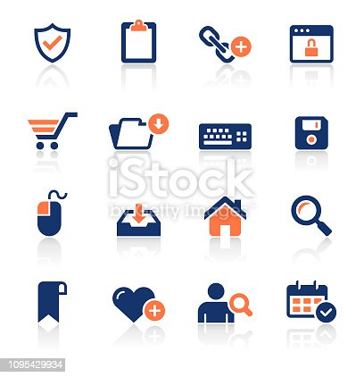 An illustration of web and internet two color icons set for your web page, presentation, apps and design products. Vector format can be fully scalable & editable.