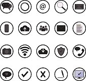 Web and mobile site vector icons set