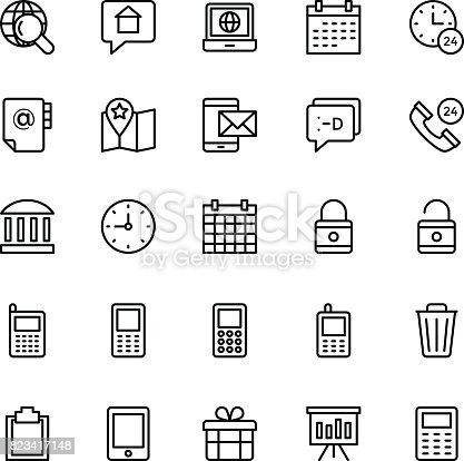 istock Web and Mobile UI Line Vector Icons 17 823417148