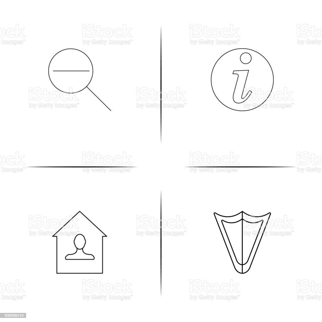 Webund Texteinfache Lineare Iconset Einfache Gliederung Symbole ...