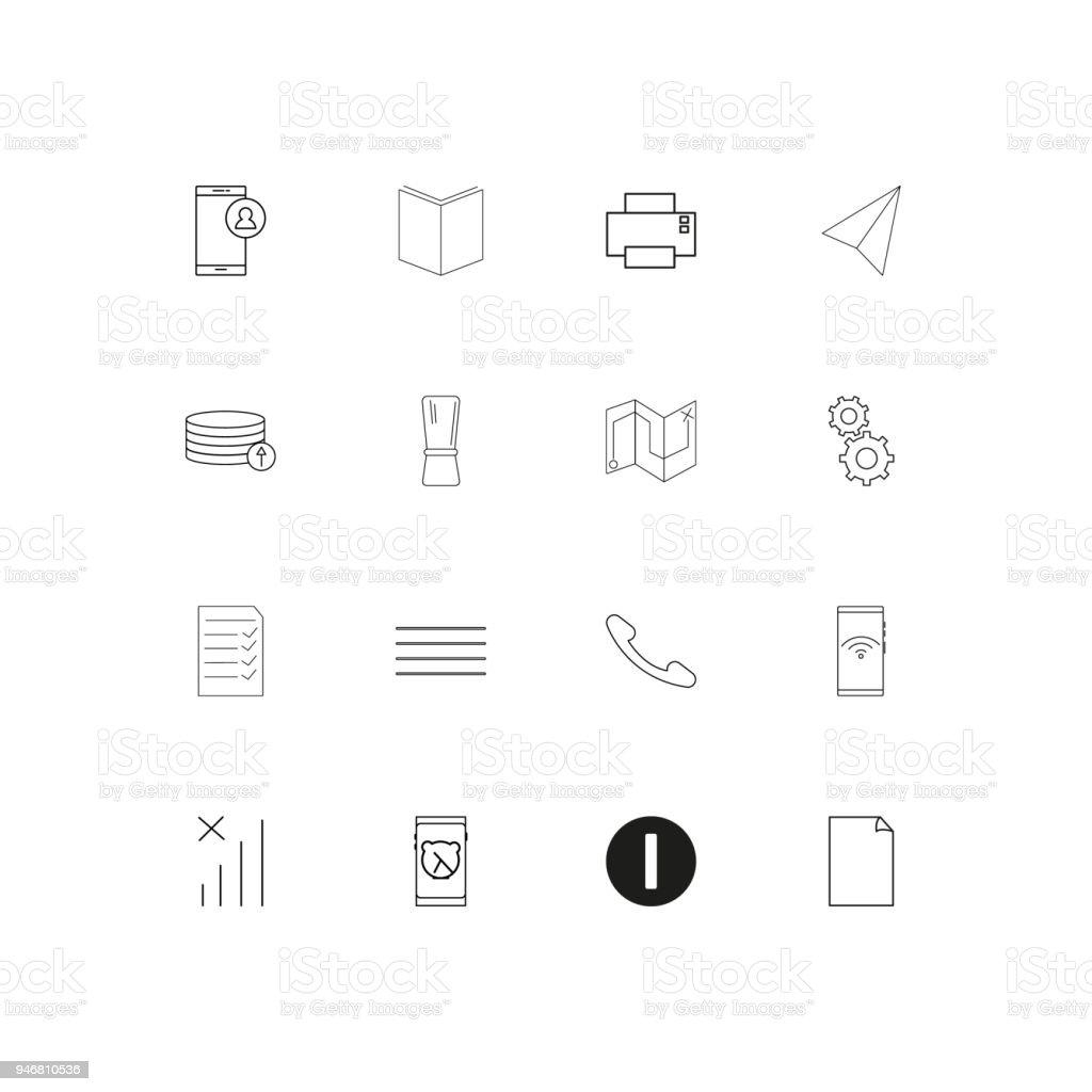 6fd771c578954 Conjunto de iconos lineal simple texto y Web. Iconos de vector se  ilustración de conjunto