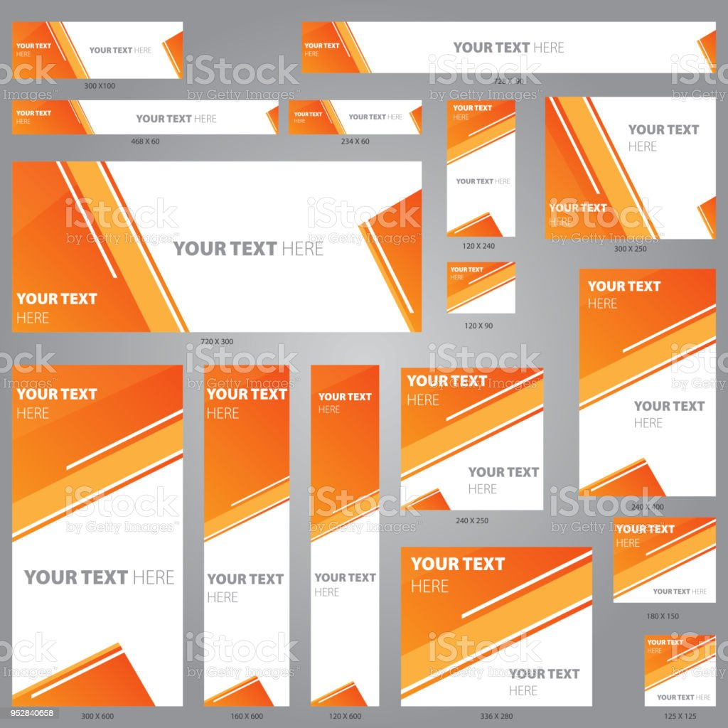 Web Banner Design Template Vector Set Stock Illustration Download Image Now Istock