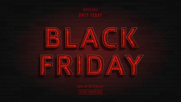 web banner for black friday sale - black friday stock illustrations