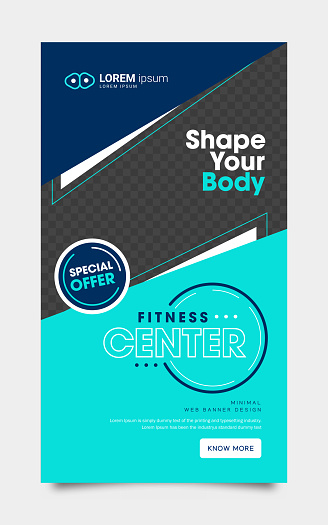 Web banner for Fitness Workout Modern & Geometric