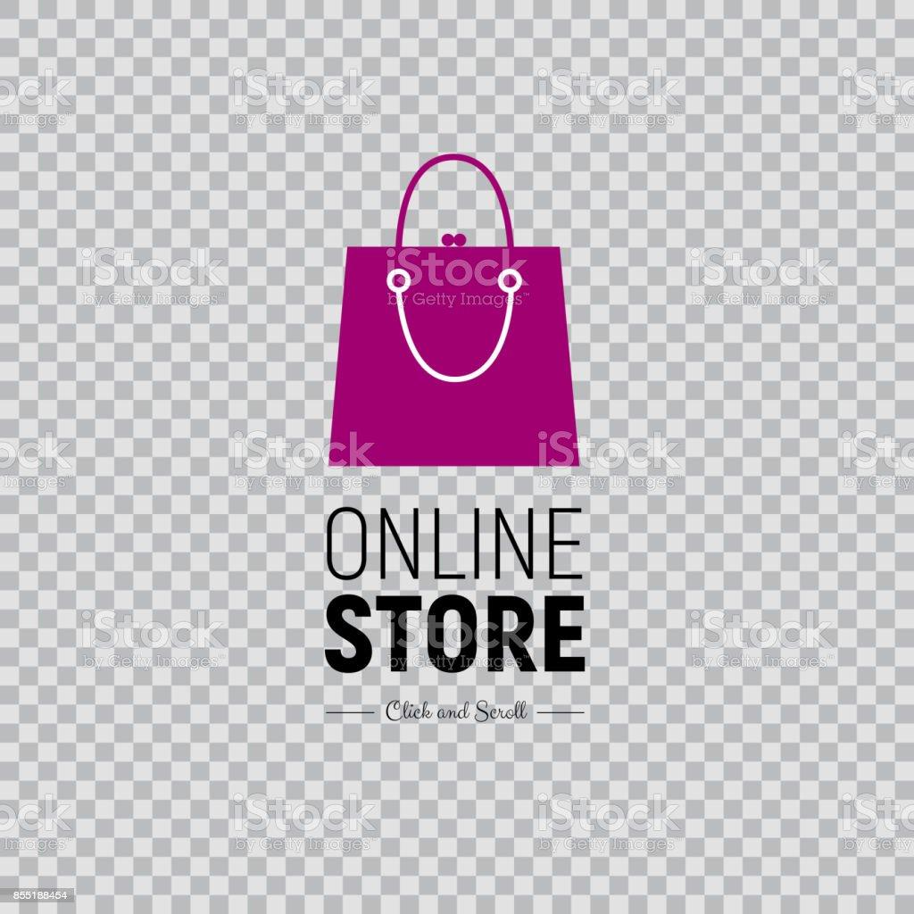 Ilustración de Web Banner Online Store Con Bolso Y Calzado ...