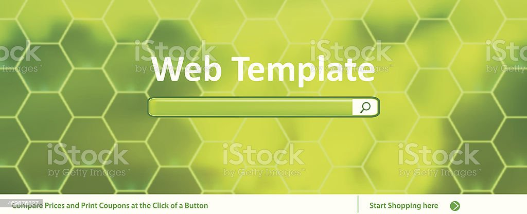 Web Banner Template With Search Bar royalty-free stock vector art