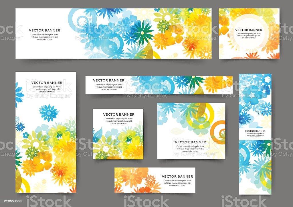 Web banner templates vektör sanat illüstrasyonu
