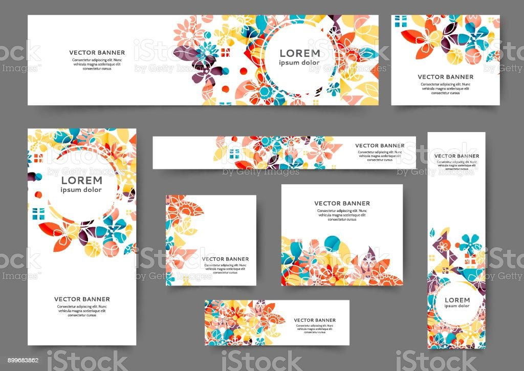 Web banner templates vector art illustration