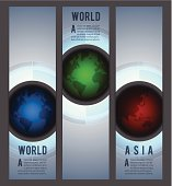 Web banners with globes