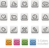 Web Blog Icons // Outline Button