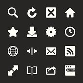 Web Browser Icons - White Series | EPS10