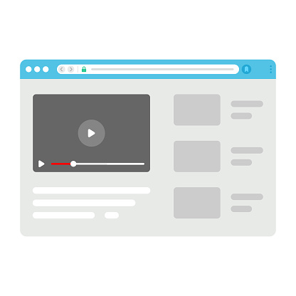 Web Browser on Video Player Icon.