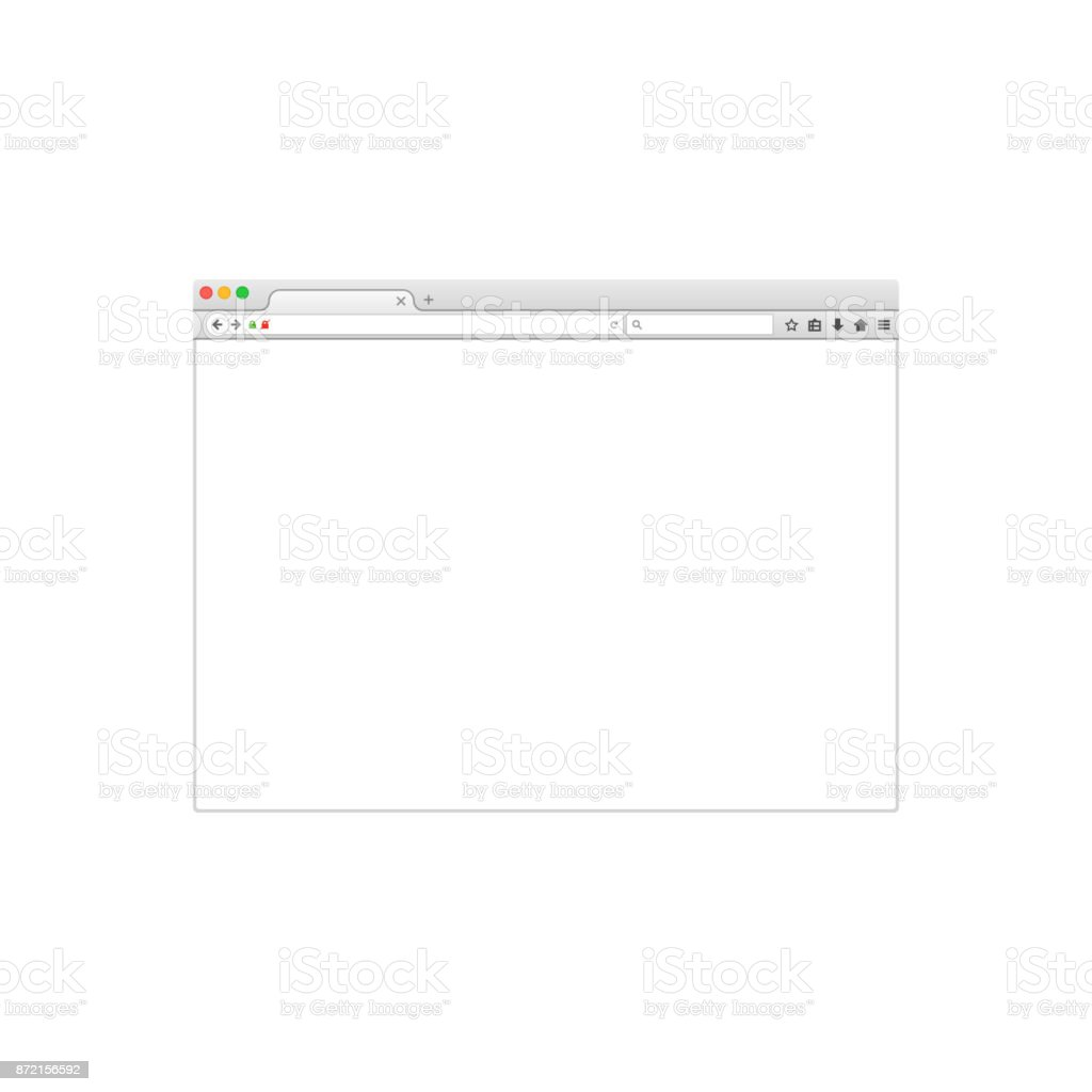 Web browser window vector illustration. Vector flat style