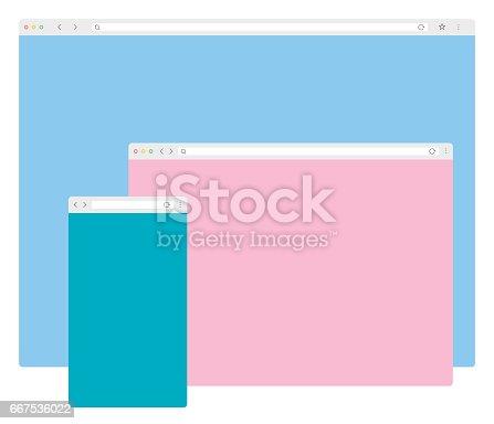 istock Web Browser Windows Template 667536022