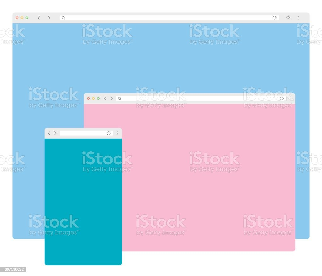 Web Browser Windows Template vector art illustration