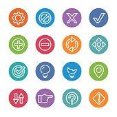 Web Button Icons - Circle Line Series