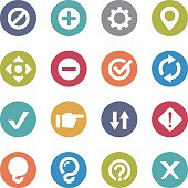 Web Button Icons - Circle Series