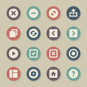 Web Button Icons - Color Circle Series