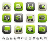 Web Button Icons - Internet