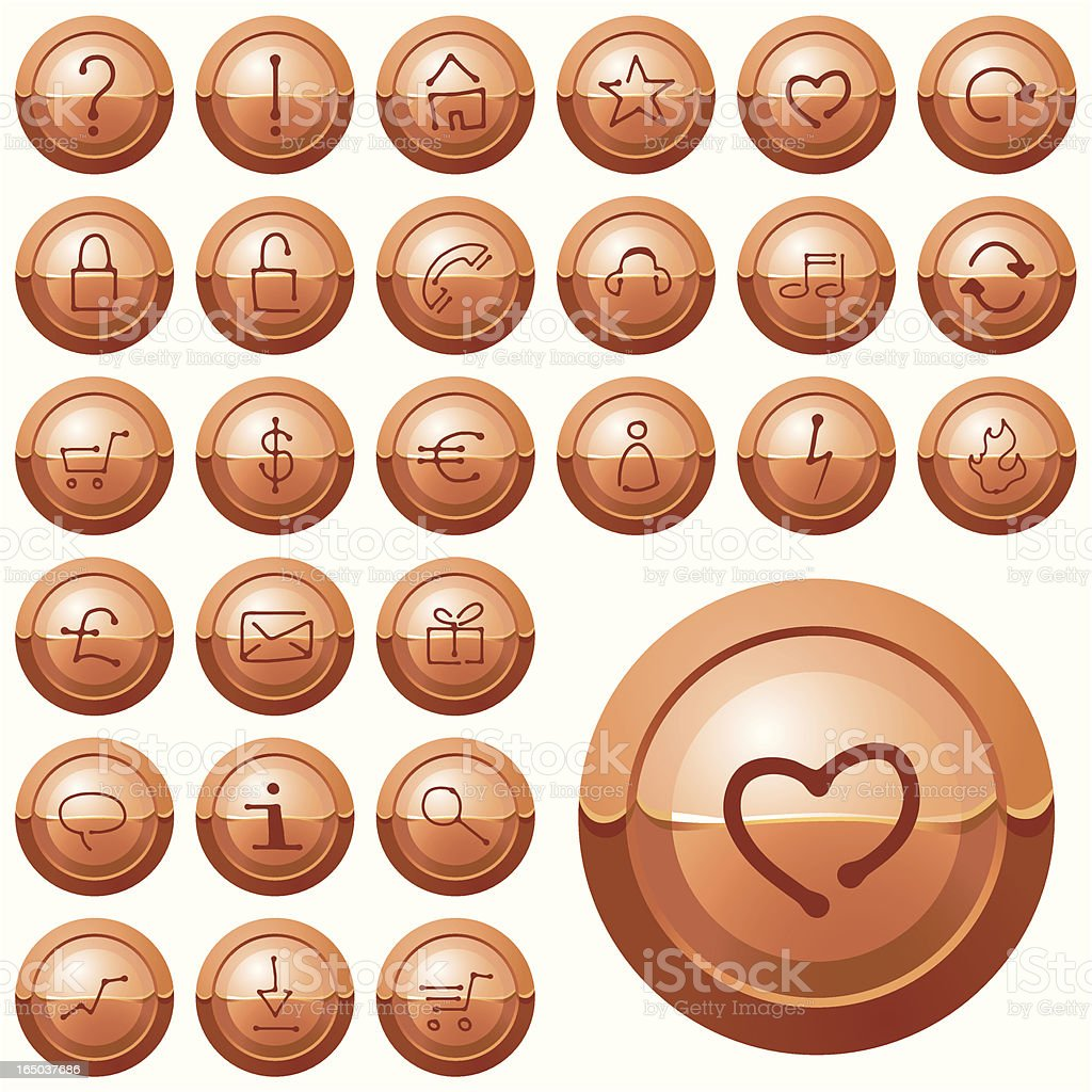 Web Buttons 03 royalty-free web buttons 03 stock vector art & more images of brown