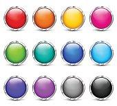 Illustration of web buttons colorful design set