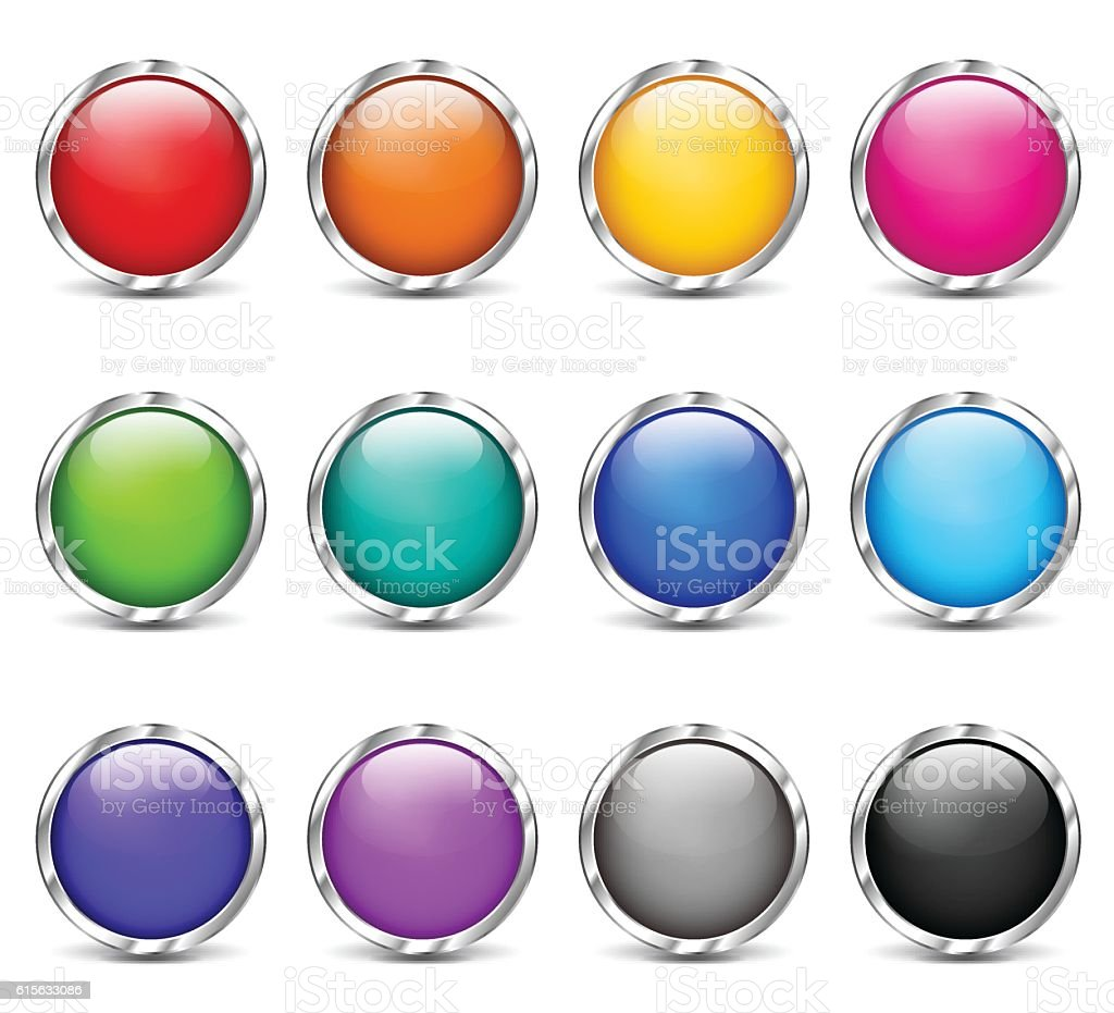 web buttons colorful design set vector art illustration