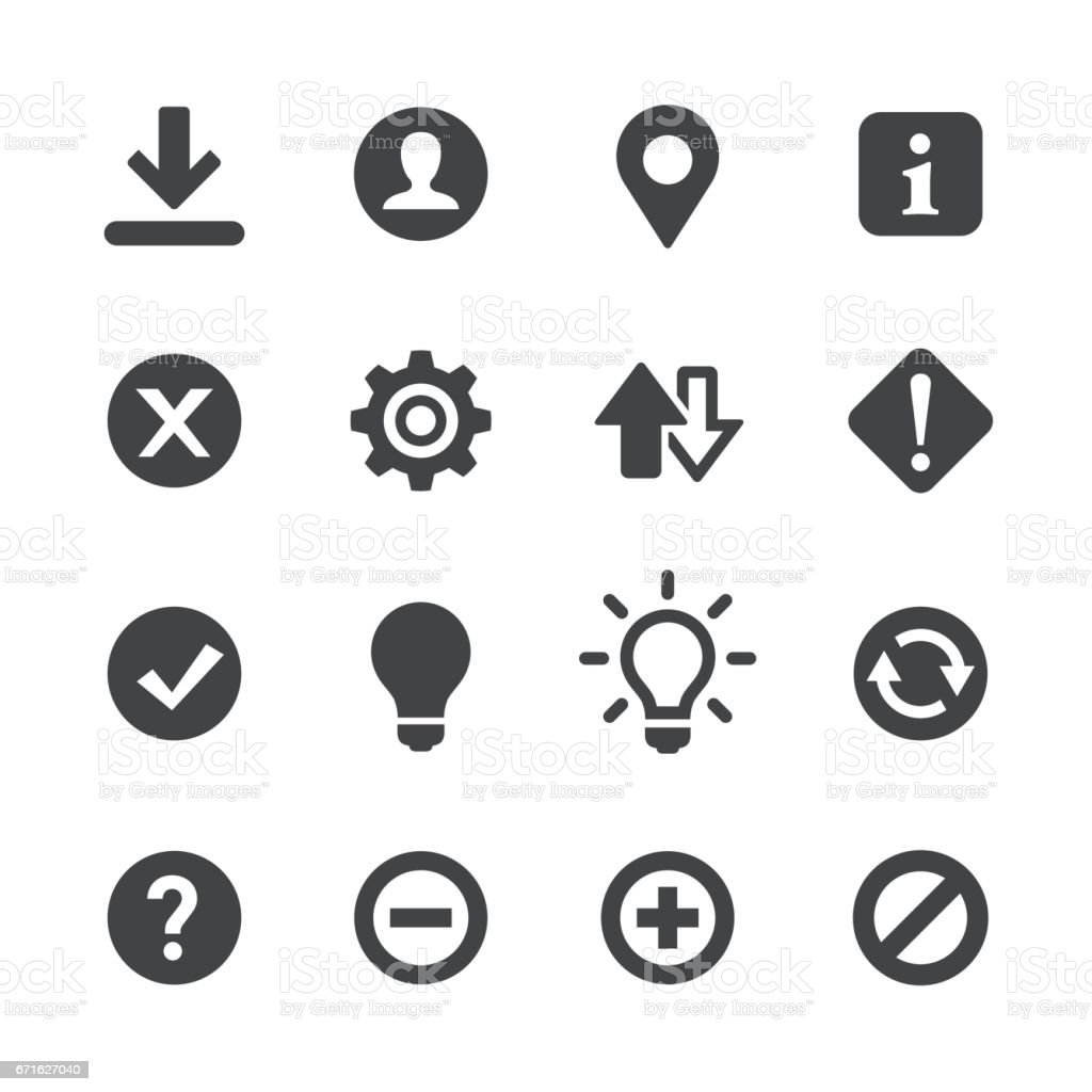 Web-Schaltflächen-Symbole - Acme-Serie – Vektorgrafik