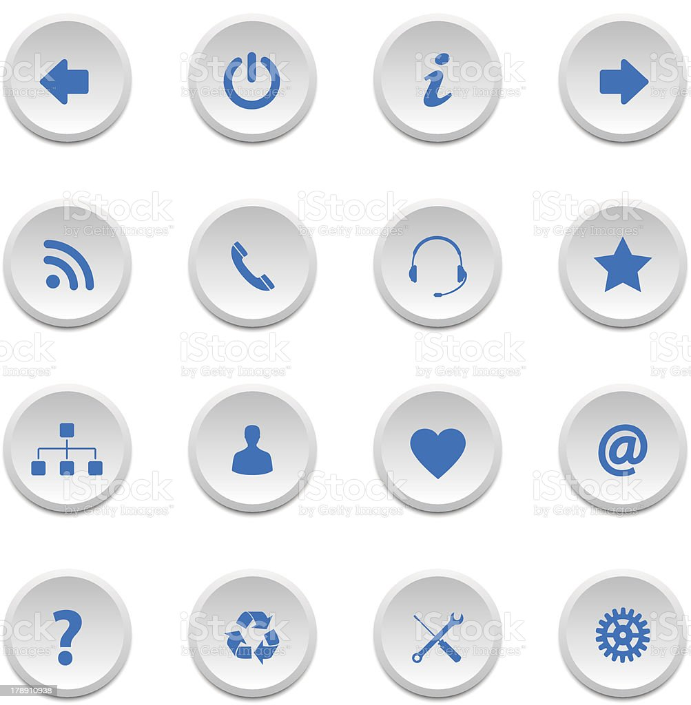 Web buttons set 2 royalty-free stock vector art