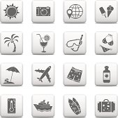 Web buttons, Vacation icons