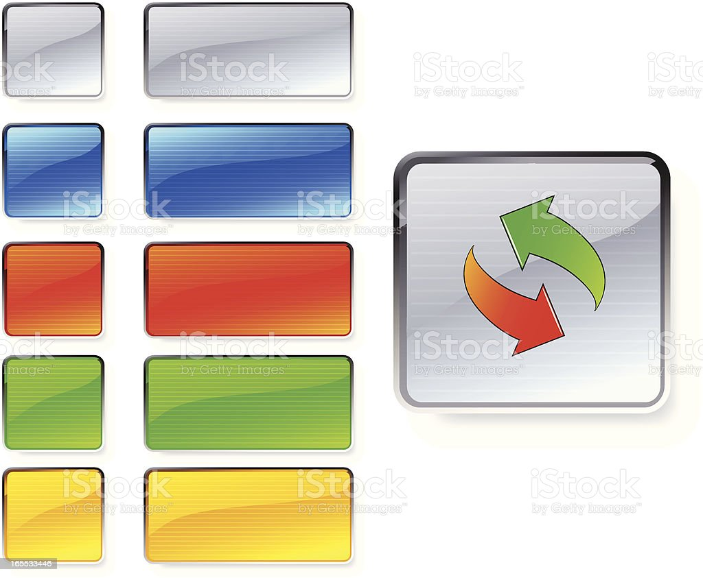 web buttons royalty-free stock vector art