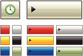 web buttons with clock icon