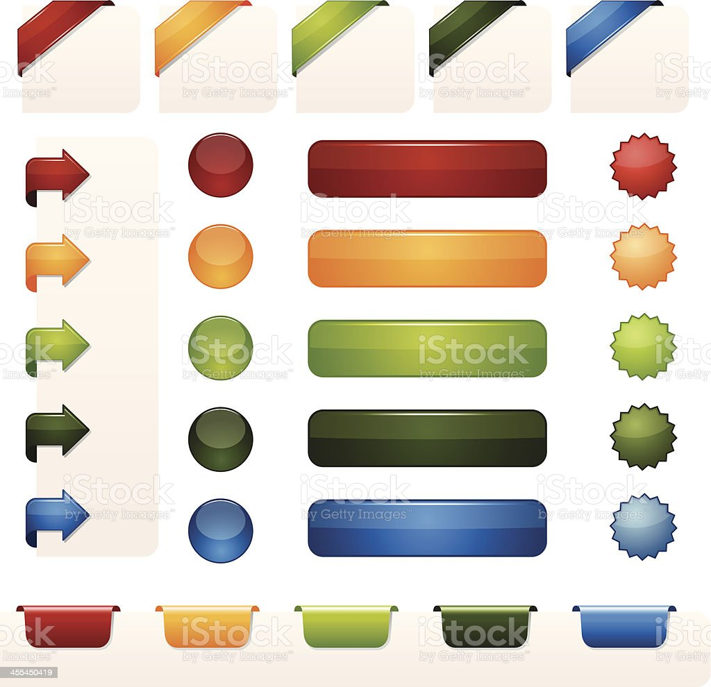 Web Buttons vector art illustration