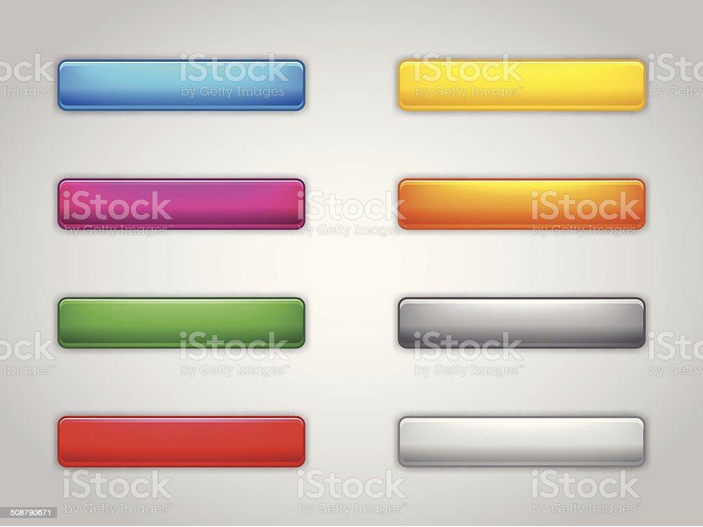 Web buttons vector art illustration