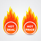 Hot deal and hot price buttons