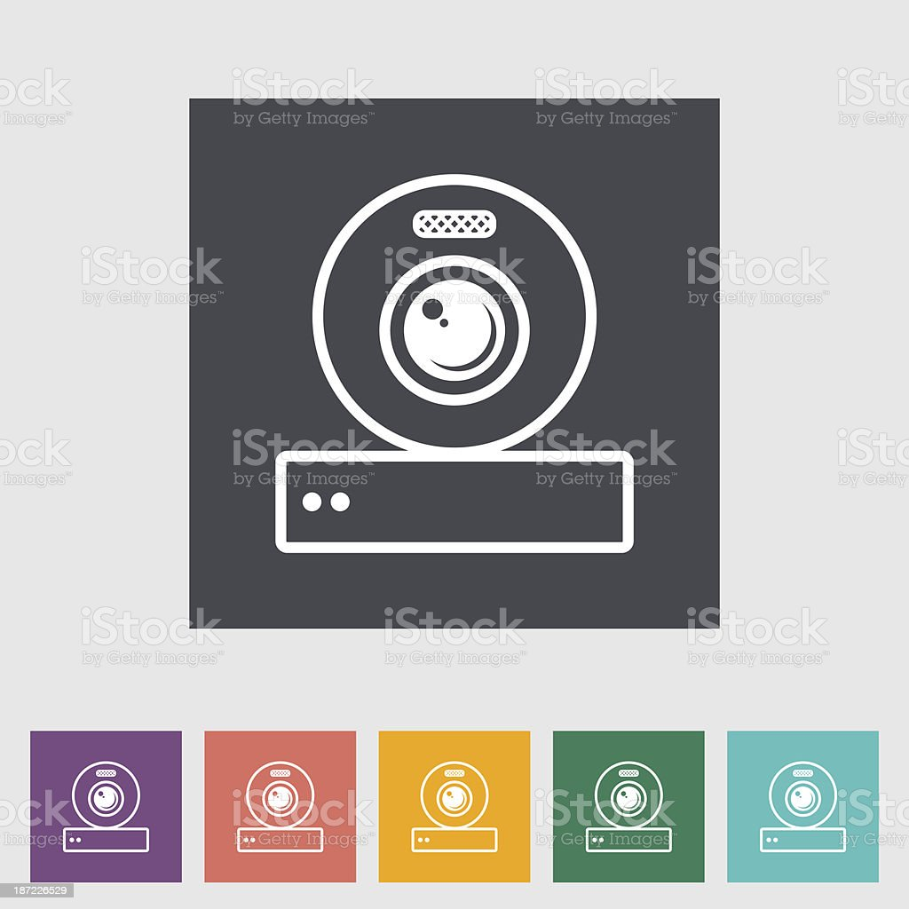 Web cam icon. royalty-free stock vector art
