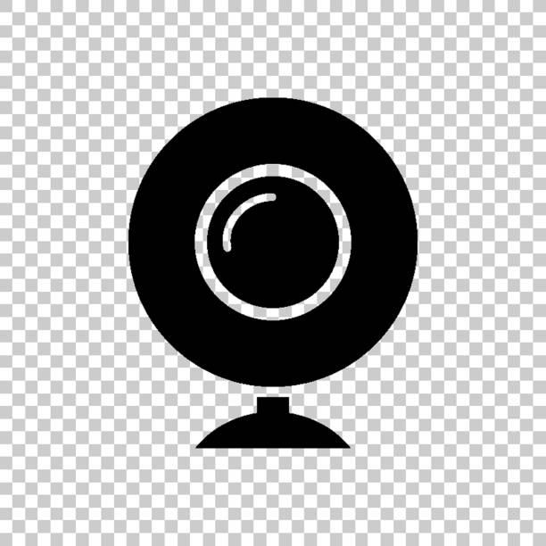 ilustraciones, imágenes clip art, dibujos animados e iconos de stock de cámara web-icono de vector verde - zoom meeting
