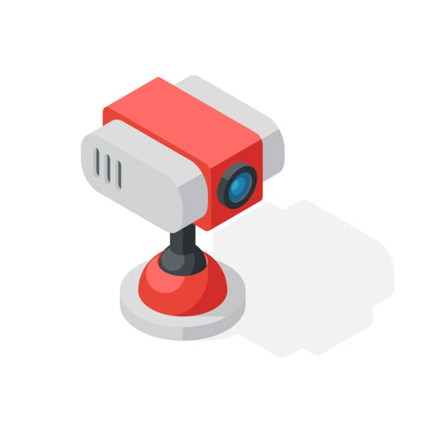 ilustraciones, imágenes clip art, dibujos animados e iconos de stock de web icono de cámara aislado sobre un fondo blanco. - zoom meeting