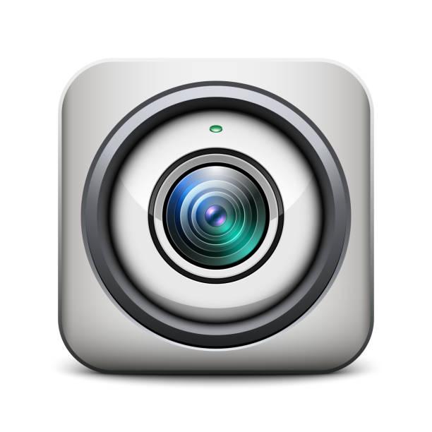 ilustraciones, imágenes clip art, dibujos animados e iconos de stock de web icono de cámara - zoom meeting