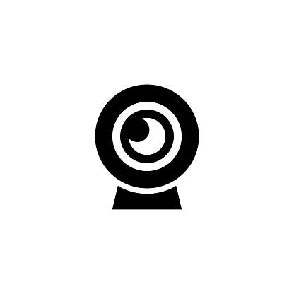 Web Chat Camera Flat Vector Icon