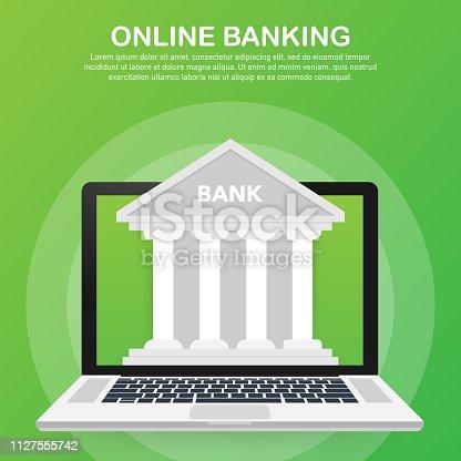 Web concept for online banking. Modern banner for internet banking. Vector stock illustration.