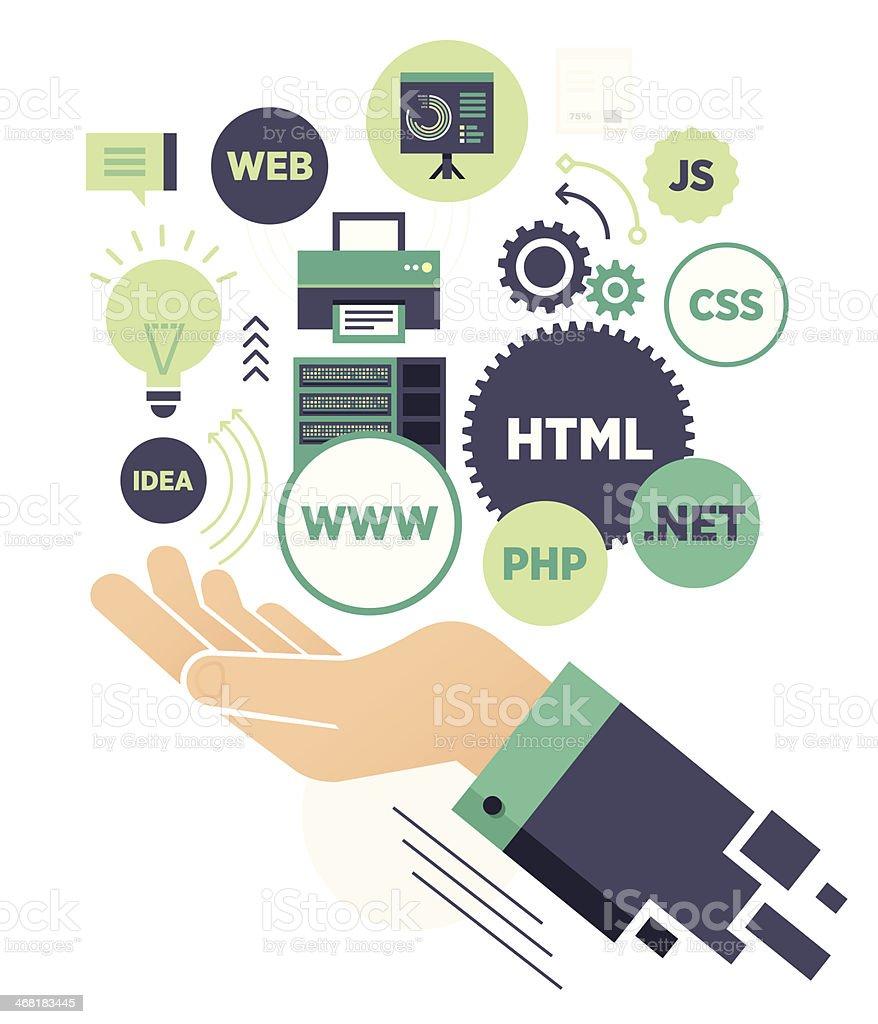 Web Concept vector art illustration